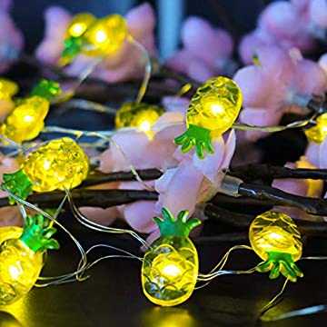 Pineapple-String-Lights,-40-LED-Waterproof-Indoor-Decorative-String-Lights-with-Remote-and-Timer-for-Bedroom,-10-Feet