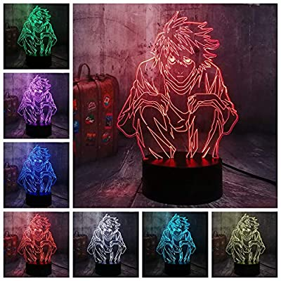 Movie-Anime-Comic-Death-Note-Action-Figure-Detective-L-Lawliet-3D-LED-Night-Light-Multicolor-Table-Desk-Lamp-Bedroom-Decor-Sleep-Light-Christmas-Gift-Kid-Boy-Toys(L-Lawliet)