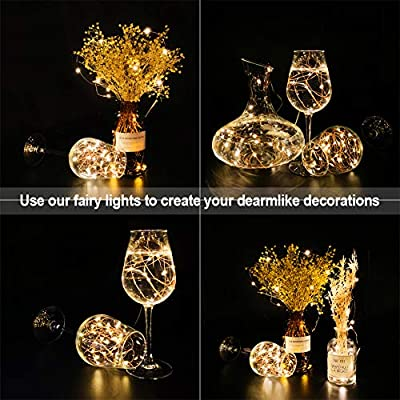48-Pack-Fairy-Lights-Battery-Operated,-7.2ft-20-Micro-LED-Mini-Waterproof-String-Lights-Copper-Wire-Firefly-Starry-Lights-for-DIY-Wedding-Party-Mason-Jars-Crafts-Christmas-Decoration,Warm-White