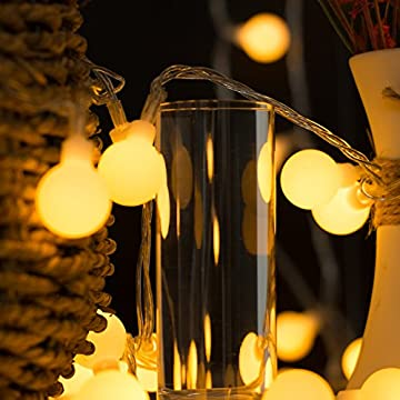 33-FT-100-LED-Globe-Ball-String-Lights,-Fairy-String-Lights-Plug-in,-8-Modes-with-Remote,-Decor-for-Indoor-Outdoor-Party-Wedding-Christmas-Tree-Garden,-Warm-White