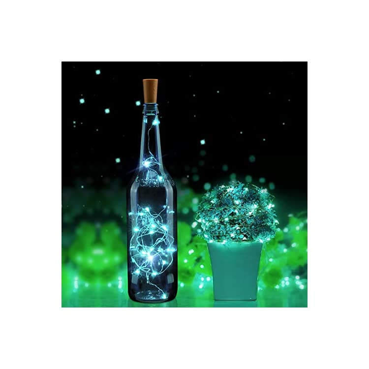 Wine-Bottle-Lights-with-Cork-12-Pack-15-LED-Starry-Fairy-Lights-Battery-Operated-Mini-Copper-Wire-String-Lights-for-Indoor-and-Outdoor-Party-Christmas-Decoration-Halloween-Wedding-Cool-White