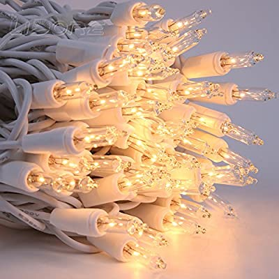 Christmas-100-Clear-White-Wire-Light-Set-Christmas-Decorations