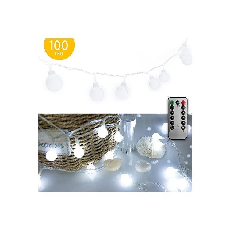 33-FT-100-LED-Globe-Ball-String-Lights,-Fairy-String-Lights-Plug-in-with-Remote,-Decor-for-Indoor-Outdoor-Party-Wedding-Christmas-Tree-Garden-Pure-White