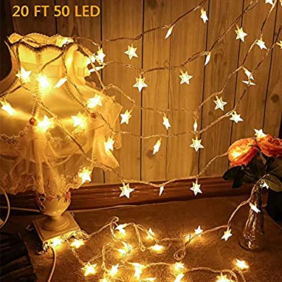 Star-String-Lights,-50-LED-20-FT-Fairy-String-Lights-Waterproof-Twinkle-Lights-Battery-Operated-Indoor-String-Lights-for-Indoor,-Outdoor,-Wedding-Party,-Christmas-Tree,-New-Year,-Garden-Decor