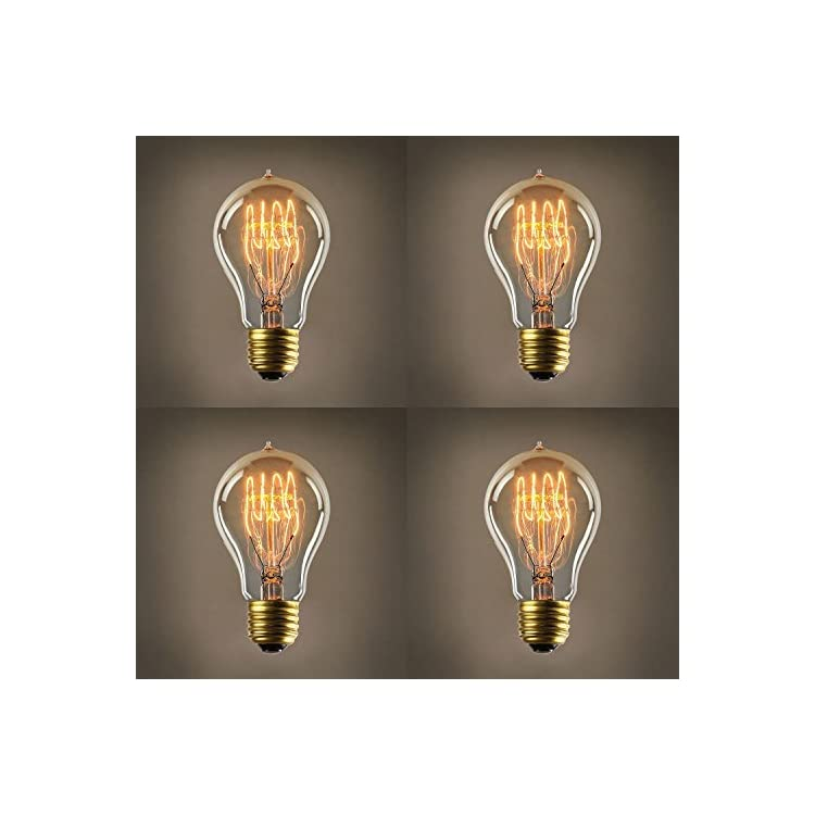 40W-Edison-Light-Bulb-A19---Vintage-Style-Filament-Bulbs,-Fully-Dimmable,-E26-(Medium)-Base,-Warm-White,-Horizontal-Spiral,-Coney-Island-Collection---Set-of-4