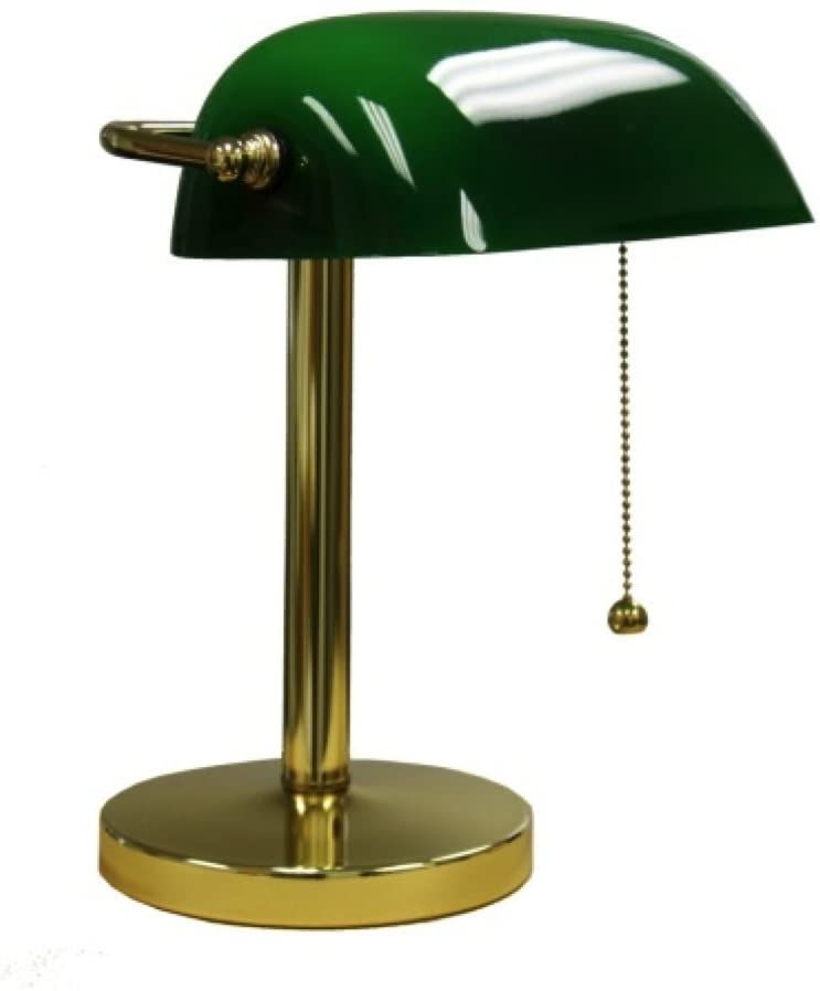 International-KT-188GR-Bankers-Lamp,-12.5-Inch-Height,-Green