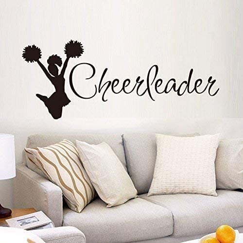 Sport-Series-Cheerleader-Silhouette-Quote-Wall-Decal-Mural-Sticker-Dec