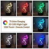 Mickey-Mouse-LED-Night-Lights-for-Kids,-7-Colors-Cartoon-Child-Table-Lamp,-USB-Touch-Remote-3D-Illusion-Desk-Lamp,-Naughty-Mickey-Mouse-Bedroom-Sleep-Lamp,-Child-Birthday-Gift