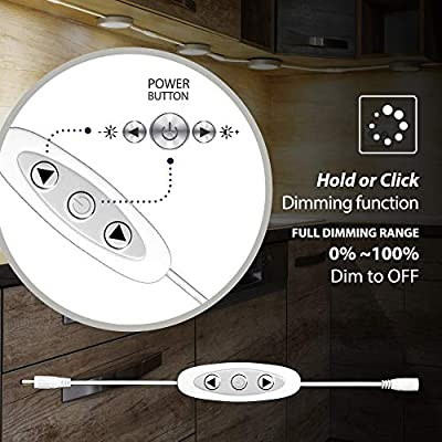 Under-Cabinet-Puck-Lights-with-Dimmer-Switch-–-Circular-60mm-LED-Cabinet-Lights-–-Dimmable-–-Pack-of-3,-Cool-White-(6000K)