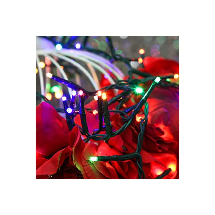 Led-Holiday-Lights,-200Led-19.58ft-Colored-Mini-String-Lights,-Green-Strand-Cluster-Christmas-Lights-for-Indoor,-Outdoor,-Patio,-Garden,-Xmas-Tree-Decoration