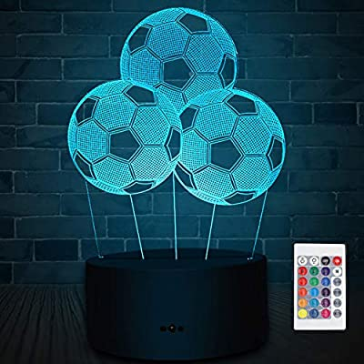 Soccer-3D-LED-Night-Light-for-Kid,-LED-Illusion-Lamp-7-Colors-and-16-Colors-Changing-Table-Desk-Bedside-Bedroom-Decor-Optical-Lamps-As-a-Gift-Ideas-for