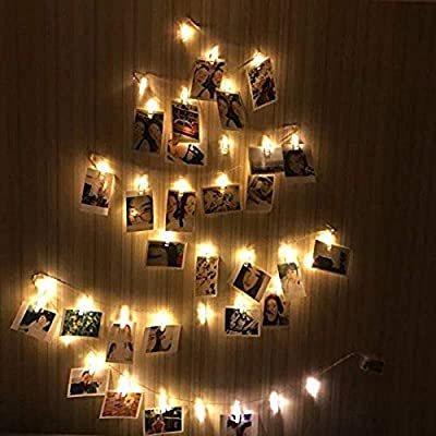 40-LED-Photo-Clip-Lights---Adecorty-8-Modes-USB-Powered-Photo-Clips-String-Lights-with-Remote-&-Timer,-Cards-Pictures-Holder-for-Christmas-Wedding-Dorm-Bedroom-Decor-(16.4ft,-Warm-White)-(Renewed)