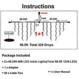 LED-Icicle-Lights,-98.5ft,-1216-LED,-8-Modes,-Curtain-Fairy-Light-Clear-Wire-LED-String-Decor-for-Christmas/Thanksgiving/Easter/Halloween/Party-Backdrops-Decorations-(Cool-White)