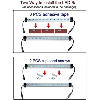 LED-Under-Counter-Lighting-Fixture,-12-Inches-Dimmable-Light-Bars,-48W-3600LM-Super-Bright,-5000K-Daylight-for-Kitchen,Cabinet,Shelf-Lights,-Plug-and-Play,-Dimmer-Included--6-Pack
