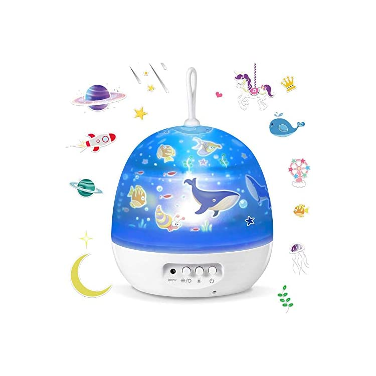 Star-Night-Lights-for-Kids---4-Set-Films-360-Degree-Rotation-Star-Projector-Night-Light-Projection-Lamp,-Romantic-Moon-Star-Bedside-Lamp-Best-for-Children-Baby-Nursery-Bedroom,-Birthday-Gifts
