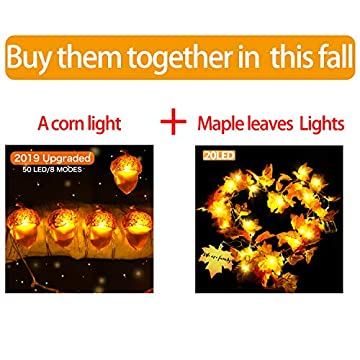 Thanksgiving-String-Lights,Fall-Decor-16ft-50-LED-/8-Modes-Battery-Powered-with-Remote,-Fall-Decorations-for-Thanksgiving-,-Christmas-,Indoor-Outdoor-Use