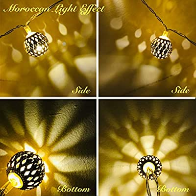 LED-Globe-String-Lights,-Decorative-Moroccan-Orb,-40-Golden-Metal-Balls,-Bright-Warm-Light,-Battery-Powered