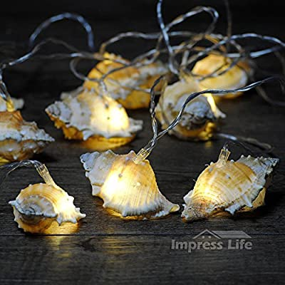 IMPRESS-LIFE-Natural-LED-String-Lights,-Ocean-Real-Conch-Beach-Themed-Christmas-Flexible-Battery-powered-10-ft-10-LEDs-for-Indoor,-Outdoor,-Birthday,-Wedding,-Summer-Holiday,-Parties-&-Home-Decorating