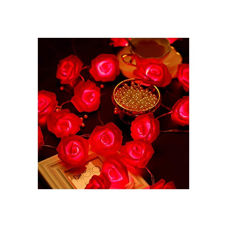 20-LED-Red-Rose-Flower-String-Lights-Battery-Operated-Romantic-Fairy-Lights-for-Valentine's-Day,-Wedding,-Birthday-Indoor-Outdoor-Decorations