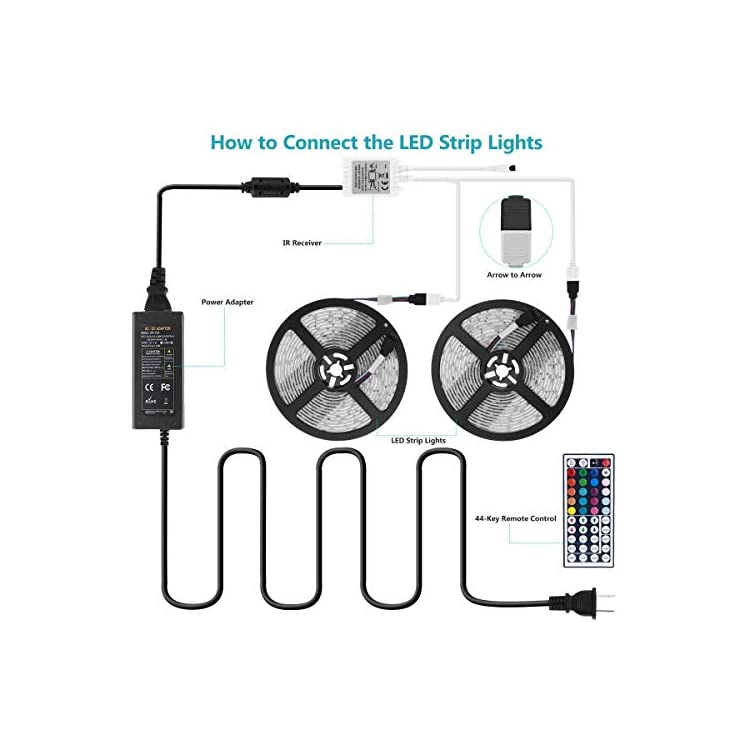 Waterproof-Led-Strip-Lights-Kit-32.8ft-10m-44-Keys-IR-Remote-Controlle