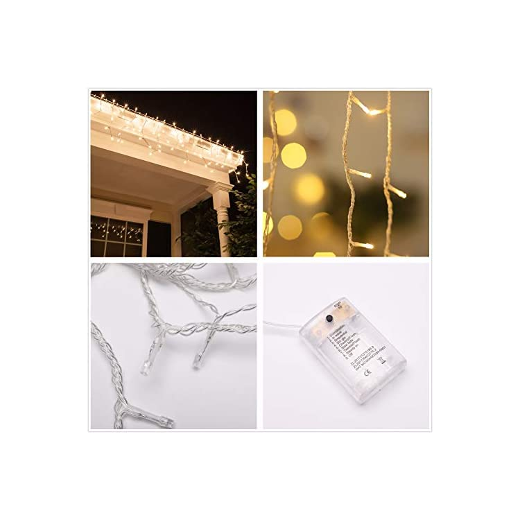 LED-Icicle-Lights-10Ft-90-LED-Window-Curtain-String-Light-Waterproof-Fairy-Twinkle-Lights-for-Indoor-Outdoor-Home-Garden-Wall-Decorations-8-Modes-RC-Battery-Operated-Warm-White