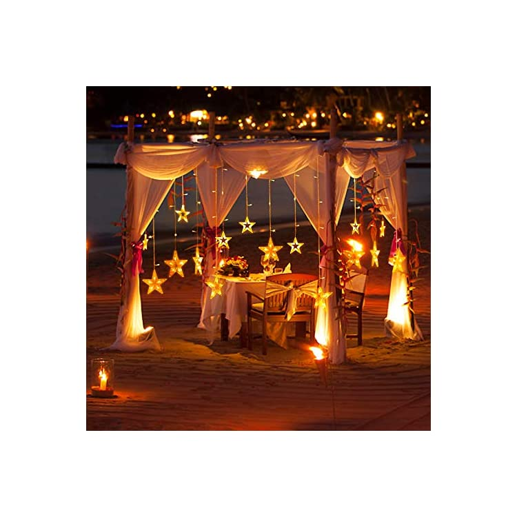 Curtain-Light-8-Modes-Fairy-String-Light-for-Christmas,-Wedding,-Party,-Festivals,-Home,-Garden,-Bedroom,-Outdoor-Indoor,-Wall-Decorations(Warm-White)-(138-LED)