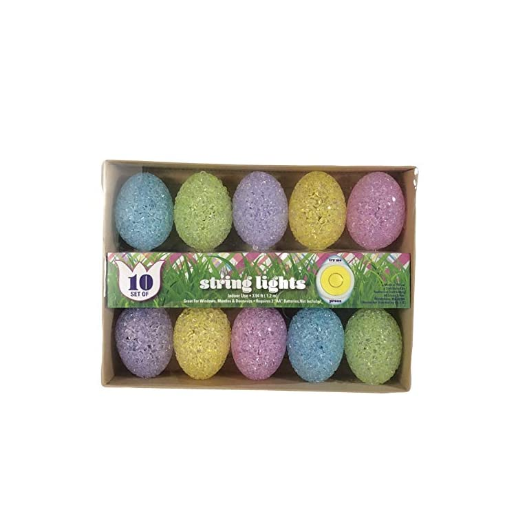 Easter-String-Lights-Battery-Operated-10-Jelly-Full-Size-Eggs-Spring-Decoration,-Multi