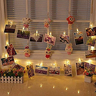 40-LED-Photo-Clip-Lights---8-Modes-Battery-Powered-Photo-Clips-String-Lights-with-Remote-&-Timer,-Cards-Pictures-Holder-for-Christmas-Wedding-Dorm-Bedroom-Decor-(14.1ft,-Warm-White)