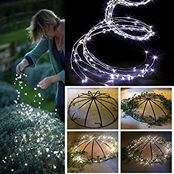 2-Pack-Waterproof-Decorative-Vine-String-Lights,-10-Strands-200-Leds-Hanging-Twinkle-Fairy-Lights-Battery-Operated-with-Remote-Timer-Silver-Wire-Timbo-Starry-Lights-for-Outdoor,-Garden,-Christmas-Tree