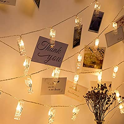 Photo-Clip-String-Lights-LED-Fairy-Clip-String-Lights-Hanging-Photo-Pictures-Battery-Operated-for-Gifts-Patio-Christmas-Bedroom-Wedding-Birthday-Party-Halloween-Festival-Decor-(no-Battery)