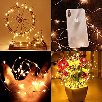 33ft-100LED-Fairy-String-Lights-USB-Powered,-Super-Bright-8-Modes-Fairy-Lights---Ramadan-Decorations---Wall-Lights-Bedroom-String-Lights-for-Indoor-&-Outdoor-(Warm-White)