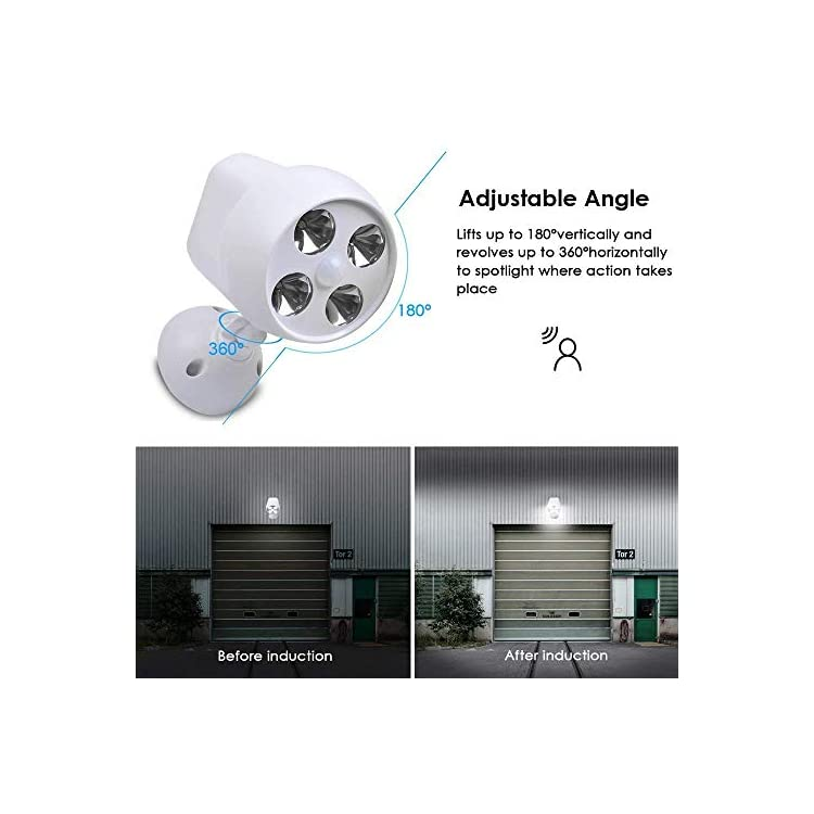 Motion-Sensor-Light-Spotlights,-600-Lumen-Motion-Detector,-IP65-Waterproof-Outdoor-Lights-with-Japan-Made-Sensor,-Battery-Operated,-Security-Lights-for-Wall,-Garden-and-Driveway-(White)