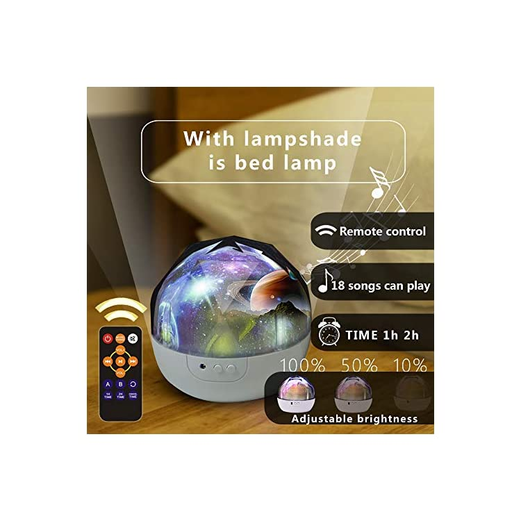 Kids-Night-Light,-Remote-Control-Night-Projector-with-LED-Timer,-360°Rotating-Planet-Night-Lighting-Lamps-Starry-Galaxy-Projector-for-Baby-Bedrooms-(Remote-and-Music)