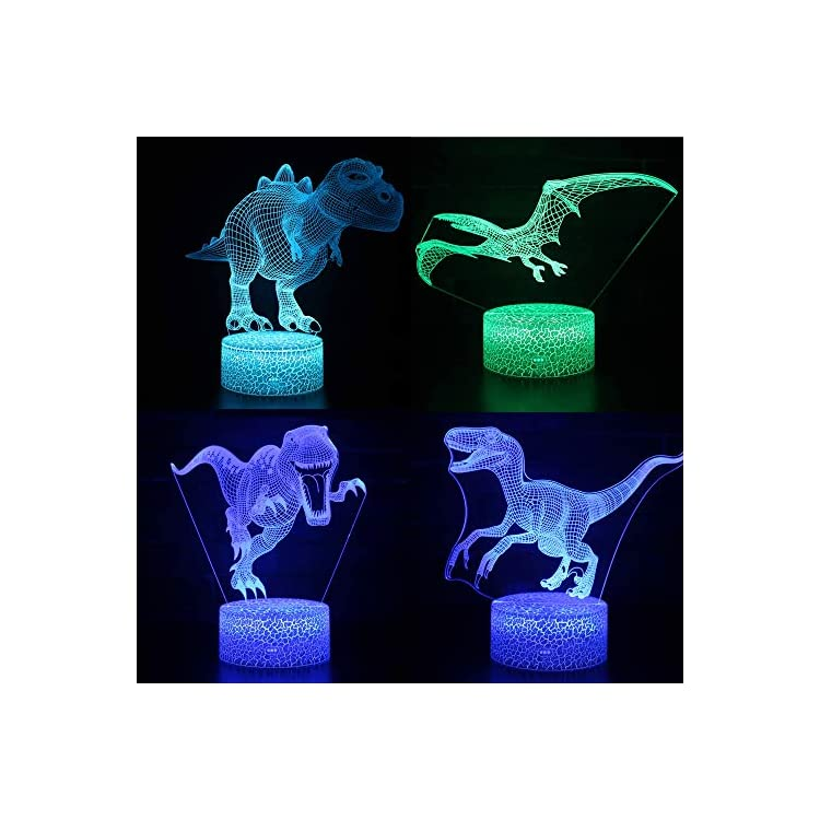 3D-Night-Light,-Dinosaur-3D-Night-Lamp-4-Pack-16-Color-Changing-Light-