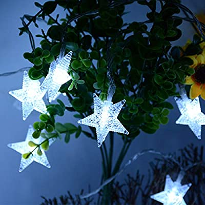 25ft-50-LED-Battery-Powered-Star-Fairy-Lights,-Cool-White-8-Modes-LED-Star-String-Lights-wit-Remote,-Waterproof-Fairy-Lights-for-Party,-Bedroom,-Christmas,-Wedding,-Patio,-Cool-White