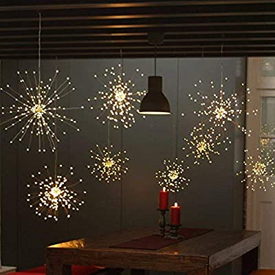 2-Pack-150-LED-Fireworks-Lights,-Hanging-Starburst-Lights,-Battery-Operated-Fairy-String-Lights-with-Remote-Control-for-Christmas,-Wedding,-Party,-Indoor,-Outdoor-(150-LED,-Warm-White)