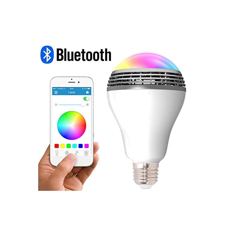 Smart-Light-Bulb-with-Bluetooth-Speaker-and-Controlled-RGB-Multi-Color-Adjustable-and-Dimmable-by-Wireless-APP-Music-Speaker-Bulb
