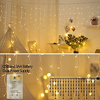 zhuohao-LED-Icicle-Lights,10Ft-90-LED-Window-Curtain-String-Light,8-Modes-USB-Battery-Operated,Waterproof-Fairy-String-Lights-for-Indoor-Outdoor-Wedding-Party-Home-Garden-Wall-Decorations,Warm-White