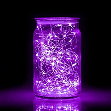 Starry-String-Fairy-Lights-3-Flashing-Mode-Firefly-Lights-with-Timer,20-Micro-LED-on-7.2feet/2m-Silver-Copper-Wire-Battery-Powered-for-DIY-Wedding-Party-Centerpiece-Decorations-Pack-of-15-(Purple)