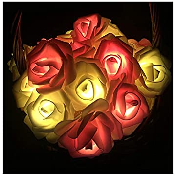 Indoor-String-Rose-Lights,-20-Led-Battery-Operated-Flower-Hanging-Lights-for-Valentine's-Day-Wedding-Anniversary-Spring-Party-Decorations,-Teen-Girls-Bedroom-Decor,-Gift-Idea-(Pink-+-White)
