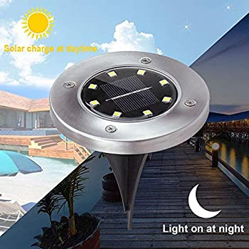New-Upgraded-8-LED-Solar-Power-In-ground-Light-Disk-Light-Path-Light-W