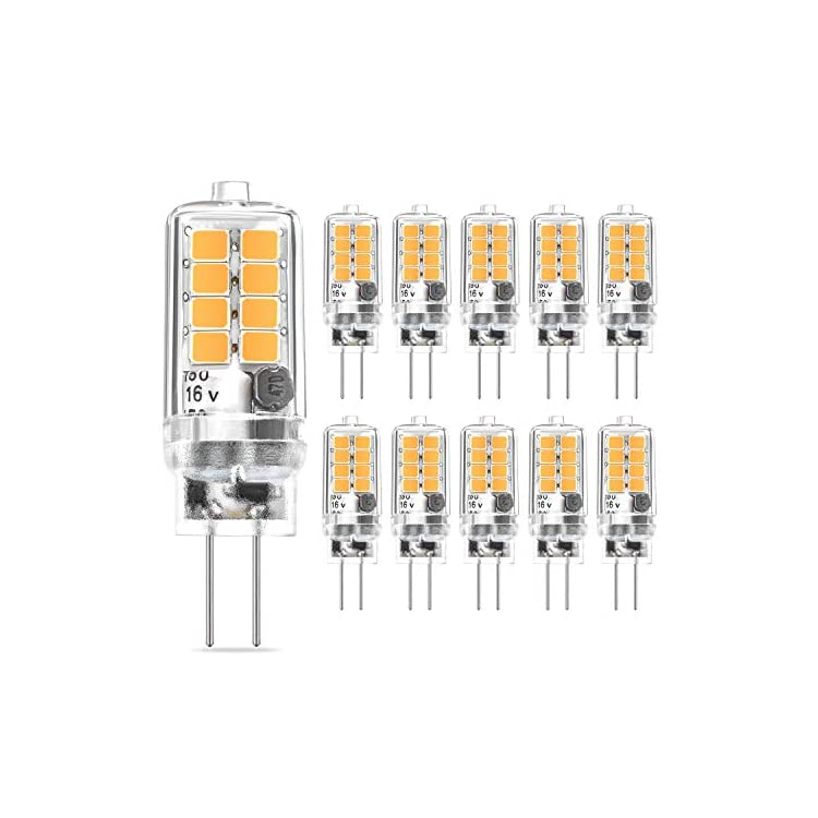 G4-LED-Bulb-Warm-White-3W-Equivalent-to-20W-30W-Halogen-Bulbs,-360°-Beam-Angle-AC/DC-12V-G4-Bi-Pin-LED-Light-Lamp,-Not-Dimmable,-No-Flicker,-10-Pack