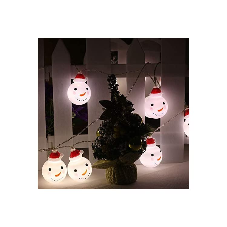 YURROAD-15FT-30-LEDs---Snowman-String-Lights-Decorative-for-Christmas-New-Year-Festival-for-Indoor-Outdoor-Bedroom-Fireplace-Garden,-Patio(Snowman,-White)-(Renewed)