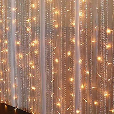 Vmanoo-Curtain-Lights,-300-LED-Window-Icicle-Fairy-String-Lights-UL-listed-with-Tail-Plug-for-Home,-Outdoor,-Indoor,-Wedding,-Xmas-Party-Decorations,-Warm-White