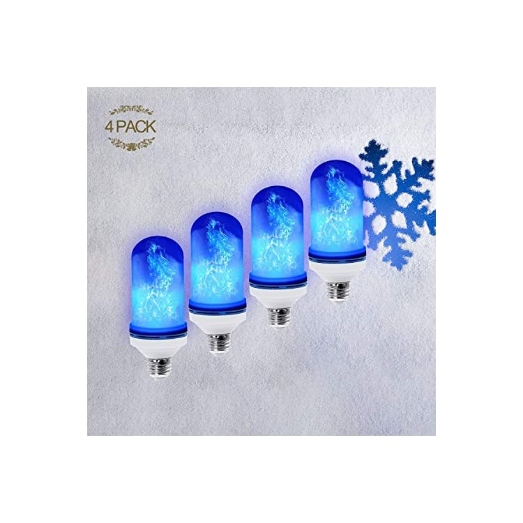 Led-Flickering-Flame-Effect-Light-Bulb-4-Pack-E26,-Super-4-Modes-with-Upside-Down-Effect,-Professional-Flame-Led-Light-Bulbs-for-Christmas-Home-Hotel-Bar-Decorations-(4-Pack-Blue)