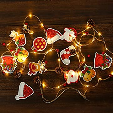 Christmas-Garland-with-Lights,-Bell-Red-Berry-with-Pine-Cone-Garland-Lights-LED-Battery-Operated-String-Lights-Indoor-Outdoor-Garden-Gate-Home-Decor-for-Thanksgiving-Christmas-Holiday-New-Year