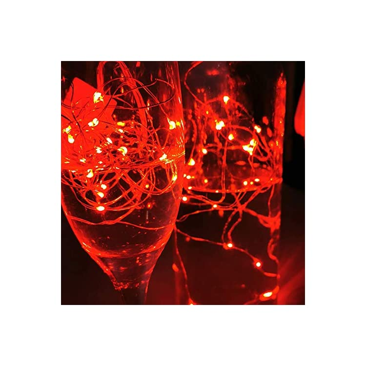 16-Pack-Fairy-Lights-10.2FT-30LEDs-Firefly-Lights-Battery-Operated-String-Lights-Silver-Wire-Starry-Moon-Lights-for-DIY-Wedding-Indoor-Party-Costume-Christmas-Tree-Decoration-(Red-Fairy-Lights)