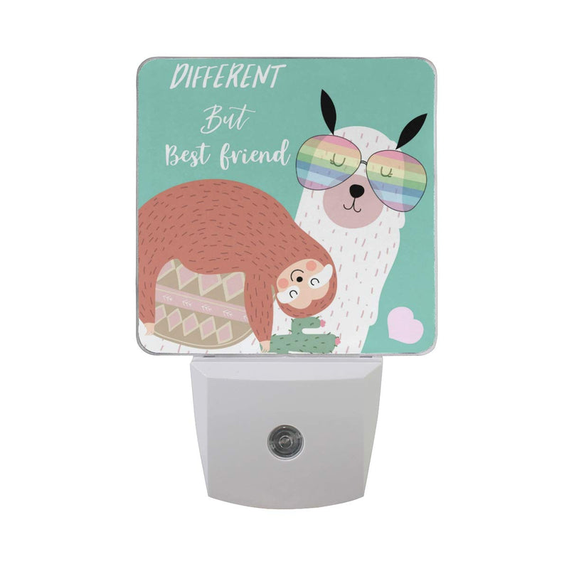 MAHU-Night-Light-Cute-Llama-Sloth-Animal-Cactus,-Auto-Sensor-LED-Night