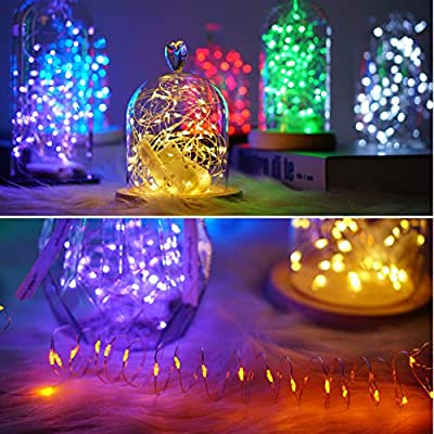 12-Pack-Fairy-String-Lights-Battery-Operated-String-Lights-with-30-Micro-LEDs-on-10Ft-Silver-Copper-Wire-Starry-String-Light-for-DIY-Party-Christmas-Costume-Wedding-Easter-Table-Decorations,-6-Colors