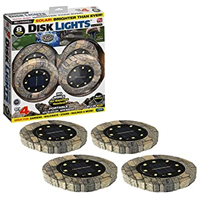 Bell-+-Howell-Disk-Lights-Slate-–-Heavy-Duty-Outdoor-Solar-Pathway-Lig